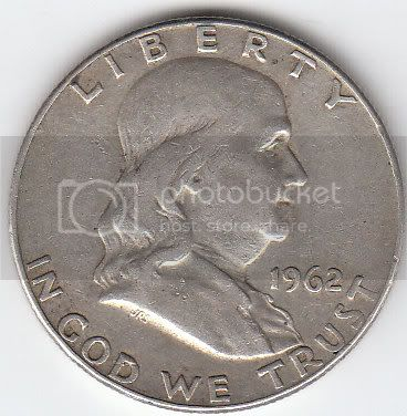 1962 Franklin Half Dollar Back photo 1962HalfFront.jpg